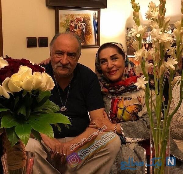 فرشته یغمایی و همسرش