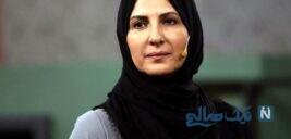 عکس یادگاری فاطمه گودرزی و ابوالفضل پورعرب در پشت صحنه سریال شرم
