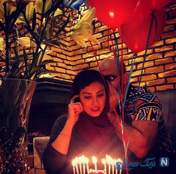 جشن تولد حدیثه تهرانی در کنار همسرش