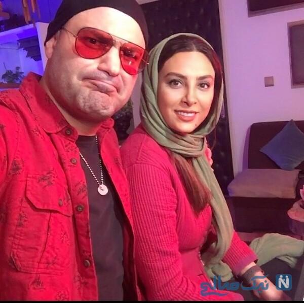 ست جالب لباس حدیثه تهرانی و همسرش