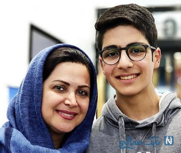کمند امیرسلیمانی بازیگر و پسرش
