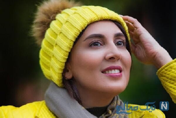 سلفی جالب لیلا بلوکات بازیگر از سرنوشت با گوشی لاکچری اش در آسانسور