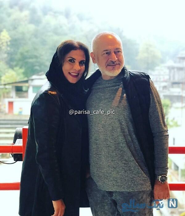 مجید مشیری با استایل جدید در کنار همسرش