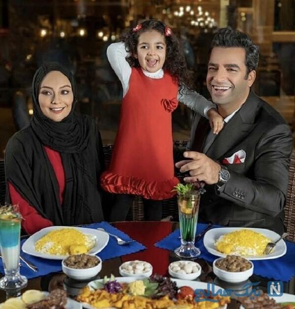 عکس جدید منوچهر هادی و همسرش در کنار دخترشان