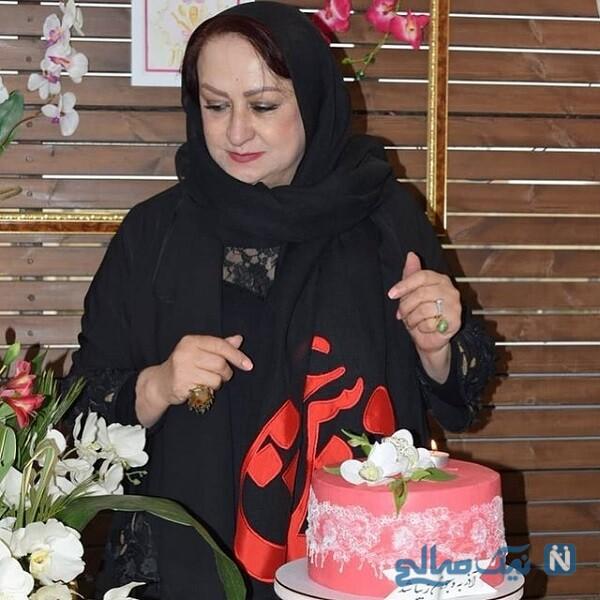 بازیگر زن در روز تولدش