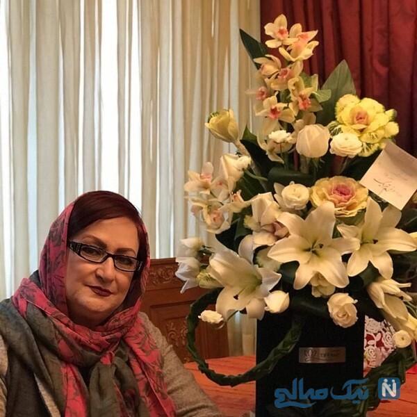 سبد گل زیبای مریم امیر جلالی
