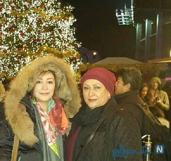 مریم امیرجلالی و دخترش در خارج