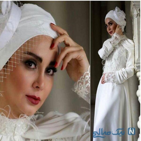 لباس عروس مریم خدارحمی بازیگر