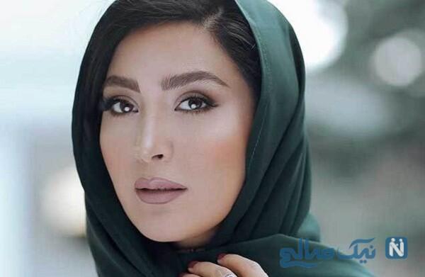 تیپ زمستانی مریم معصومی با ست زیبای شال و کلاه اش