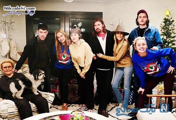 عکس خانوادگی سایرس