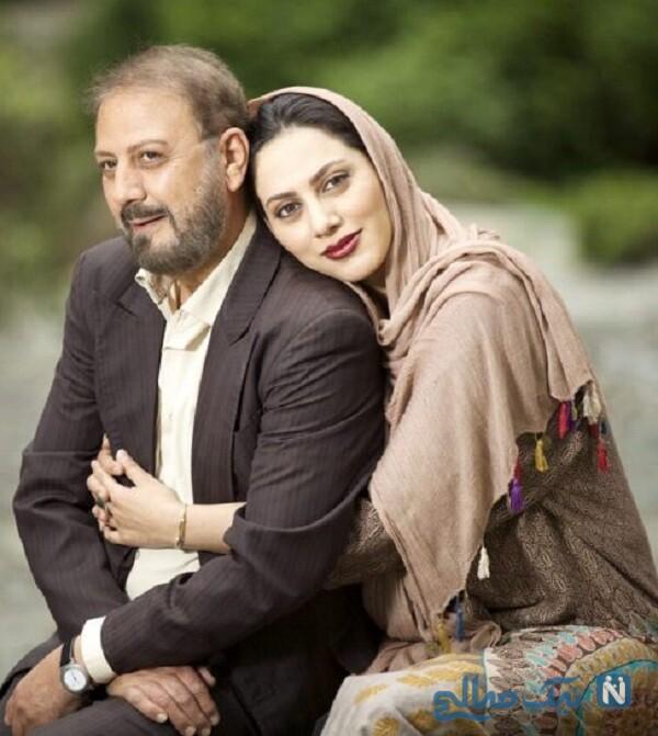 مونا فرجاد و پدرش جلیل فرجاد