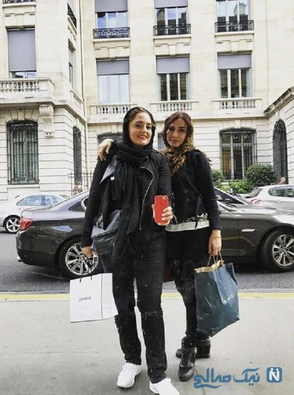 نرگس محمدی و سمیرا حسن پور در خارج
