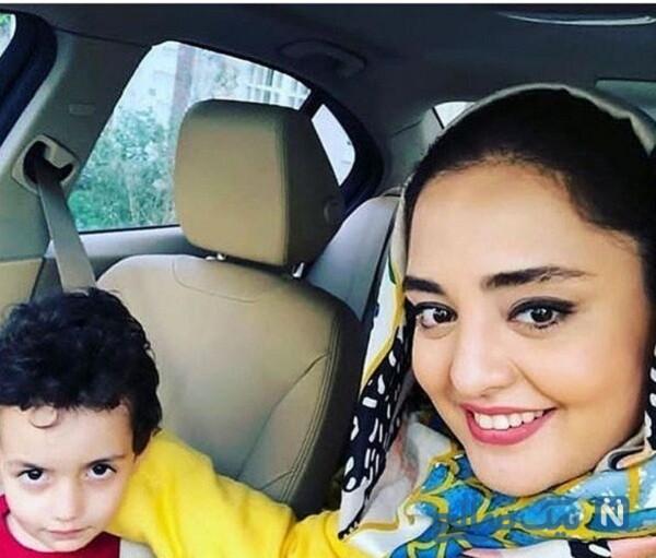 ماشین نرگس محمدی بازیگر