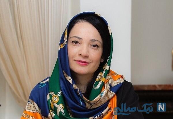 تصویر جدید نسرین نصرتی بازیگر فهیمه در پایتخت و همسرش