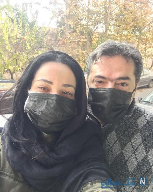 سلفی خانم بازیگر و همسرش