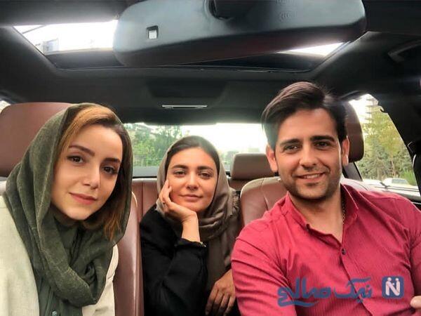 امیرحسین آرمان در کنار خانم های بازیگر
