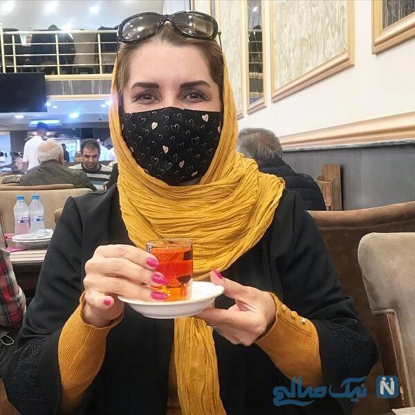 لذت بردن فریبا کوثری از نوشیدن چای