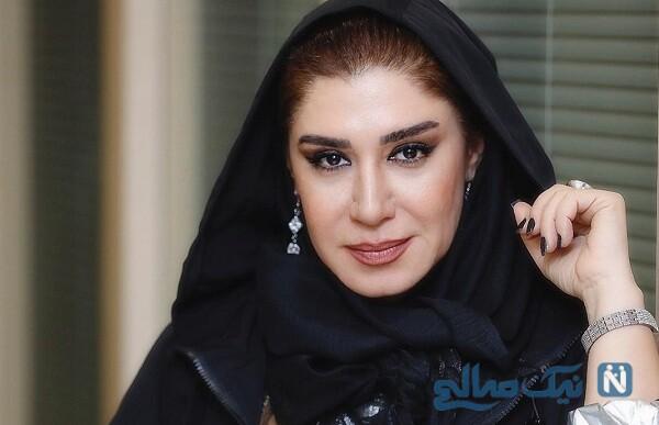 استایل خاص نسیم ادبی کنار دوست دندانپزشک اش در خزان پاییزی