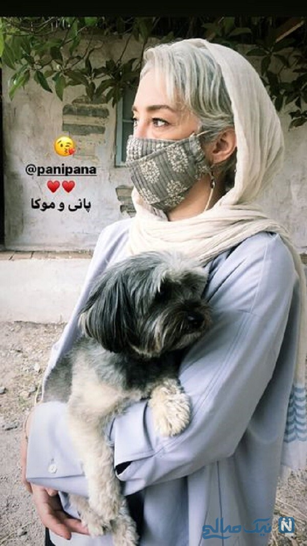 بازیگر زن و حیوان خانگی اش