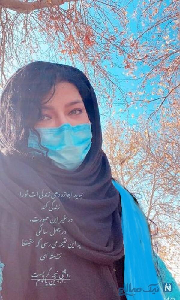 سلفی همسر شهاب حسینی