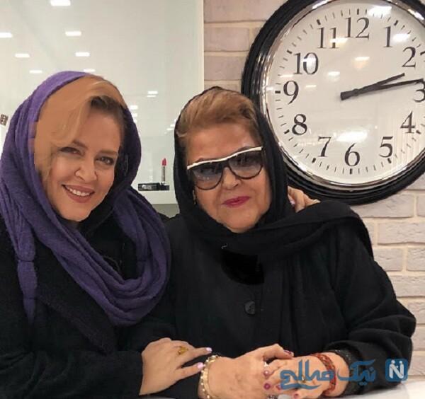 پروین قائم مقامی بازیگر معروف و دخترش