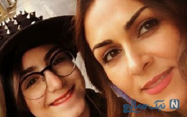 عکس شیوا ابراهیمی بازیگر معروف و دخترش