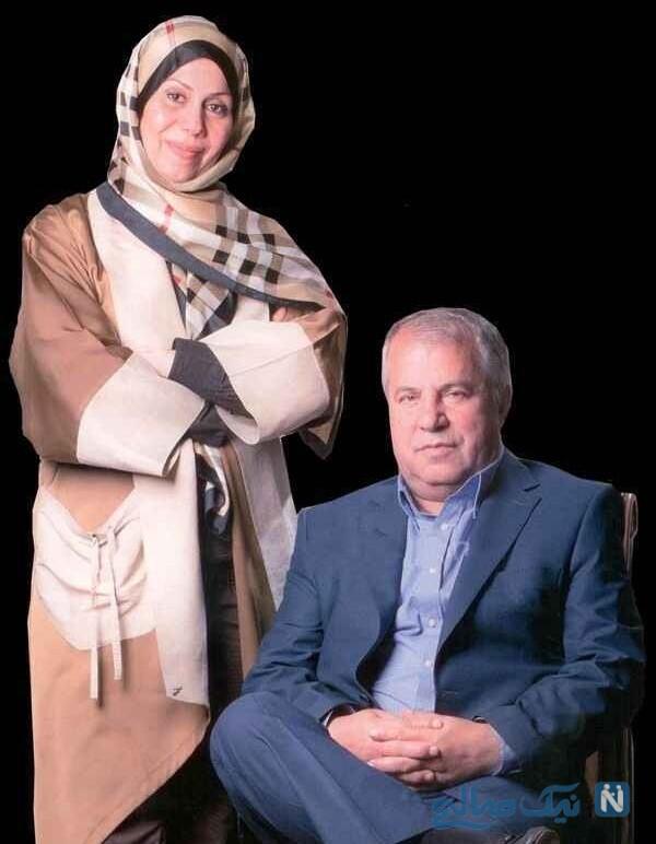 جدیدترین عکس علی پروین و همسرش