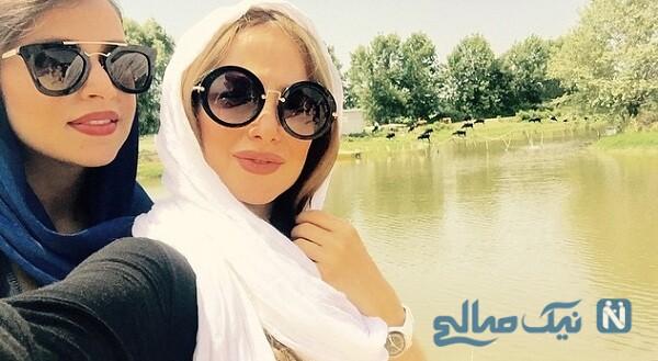 عکس الناز حبیبی و دوستش در طبیعت