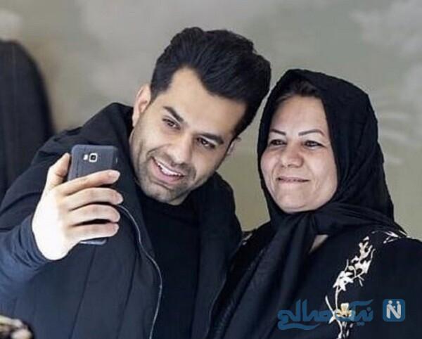 جدیدترین عکس رضا بهرام و مادرش