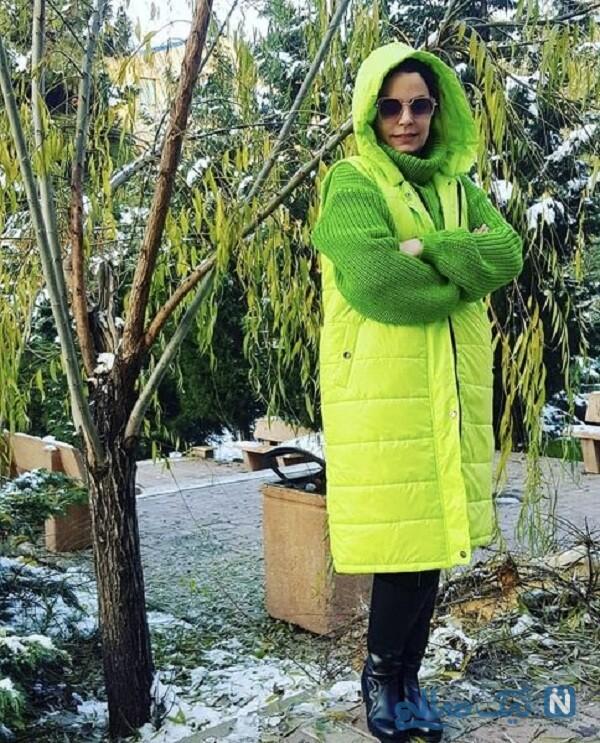 ست سبز سپیده خداوردی در طبیعت