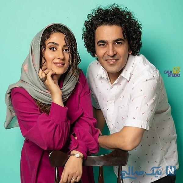 عاشقانه های الهام طهموری و همسرش