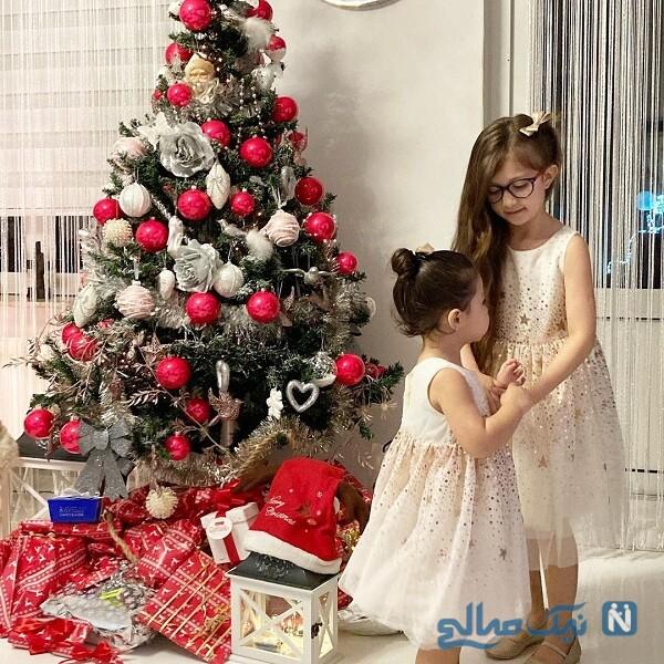 دختران آقای بازیگر در جشن کریسمس