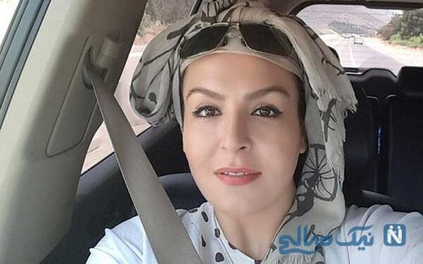 آزیتا ترکاشوند بازیگر سریال هیولا در طبیعت زیبا و پوشیده از برف