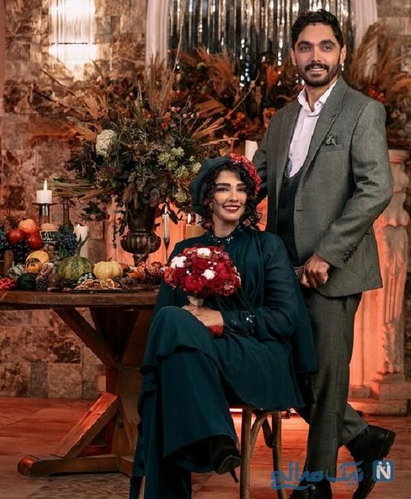 عکس عاشقانه سیما خضرآبادی و همسرش