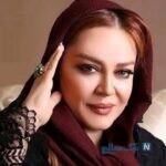 عاشقانه های دو نفره بهاره رهنما و همسرش زیر باران پاییزی