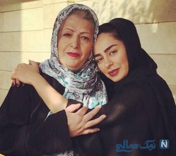 تصویری از سمانه پاکدل و مادرش