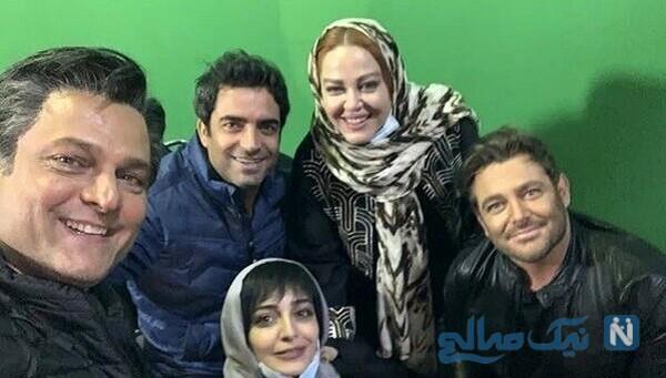 عکس سلفی بهاره رهنما با بازیگران سریال عاشقانه 2