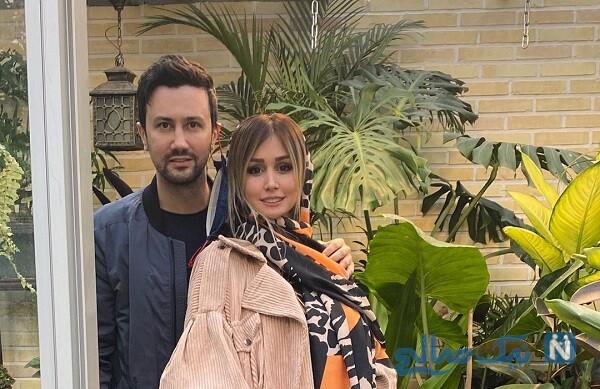 شاهرخ استخری و همسرش سپیده بزمی پور با ماسک در بلژیک