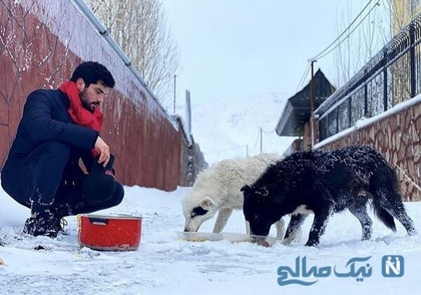 تصویری از سینا مهراد و سگش