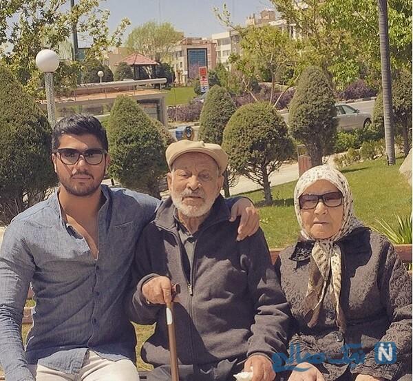 سینا مهراد و مادربزرگش و پدر پزرگش