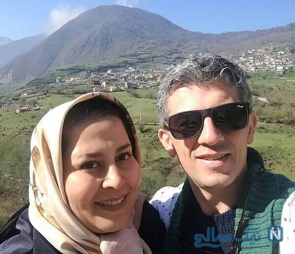 تصویری از سیروس همتی و همسرش