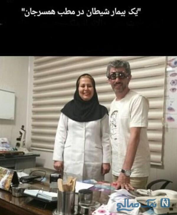 همسر چشم پزشک سیروس همتی