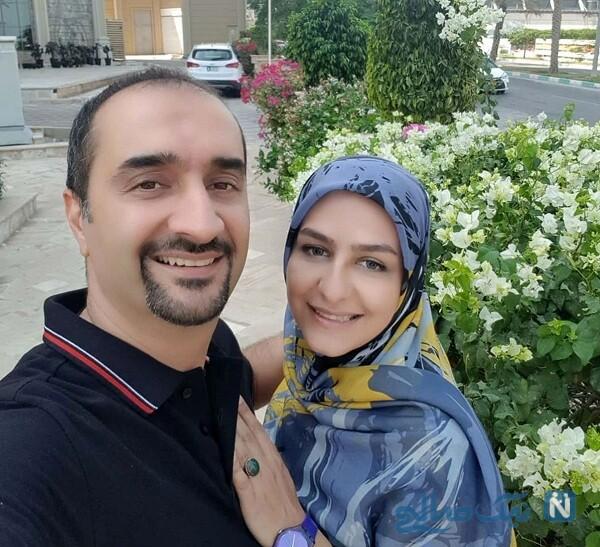 زینب زارع و همسرش