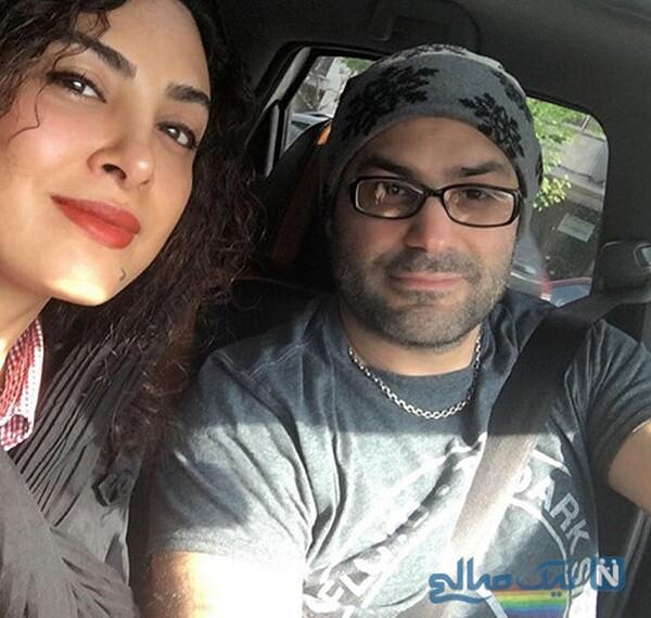 چالش حدیثه تهرانی و همسرش در ماشین