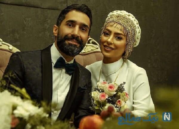 دومین سالگرد ازدواج سمانه پاکدل و همسرش