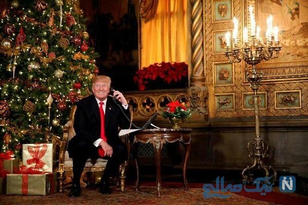 تصویری از ترامپ در جشن کریسمس
