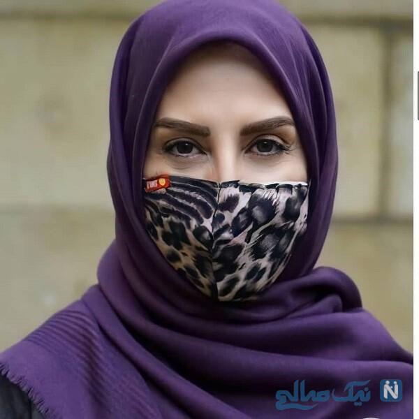 بازیگر زن با ماسک