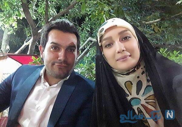 مژده خنجری مجری تلویزیون و همسرش