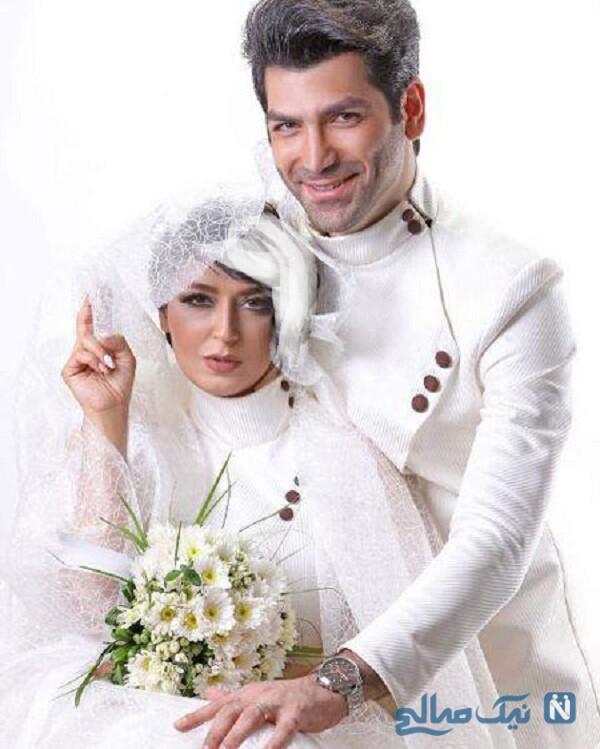 عکس عروسی فریبا طالبی و همسرش