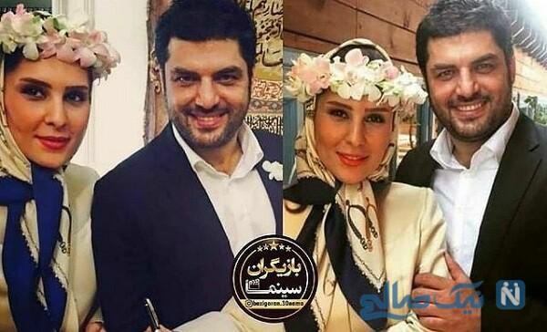 عکس عروسی سام درخشانی و همسرش